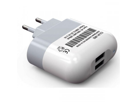 Универсальное сетевое зарядное устройство Craftmann 2.1A (2 USB порта)
